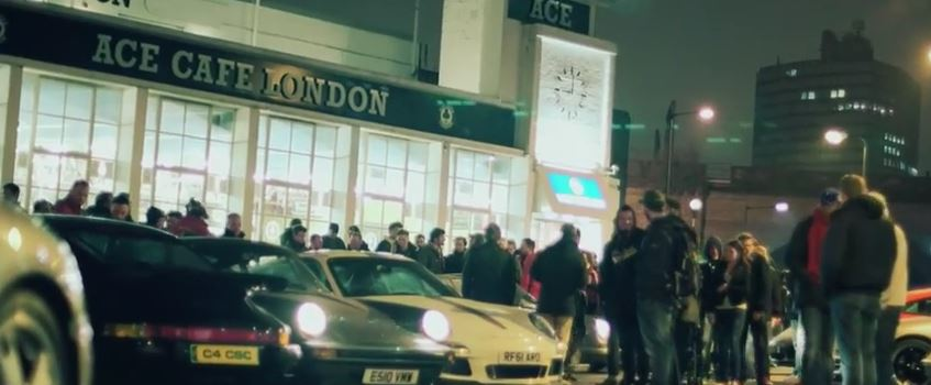 Magnus Walker at London's legendary Ace Café