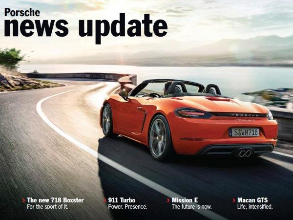Porsche News Update