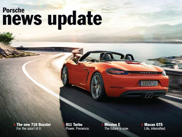Porsche news update - Edition 1 2016
